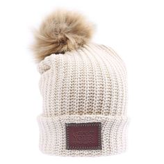 0f8c9906b31 This pom beanie is knit from 100% cotton yarn in natural and white colors.