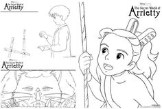 The Secret World of Arrietty Coloring and Activity Pages