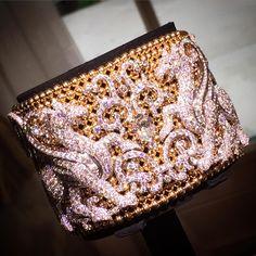"Prestige Magazine on Instagram: ""Pink #gold beads, white gold and #diamonds... What more could you ask for! #chimera #cuff by @giampierobodino #giampierobodino #jewellery #gems #hautejoaillerie #paris #pariscouture #luxury #ultimateluxury #prestigemagazine #prestige #beirut #lebanon #italy #designer #jewels #highjewelry"""