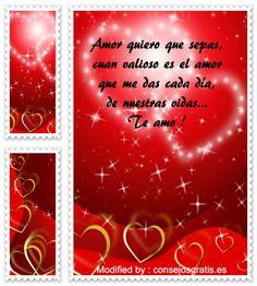 descargar frases de amor para mi enamorada,textos bonitos de amor para enviar a mi novia por whatsapp : http://www.datosgratis.net/mensajes-de-amor/