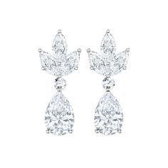 Pear and Marquise Earrings Pear Diamond, Marquise Cut Diamond, Diamond Cuts, Diamond Earrings Tiffany, Diamond Jewelry, White Gold, Rose Gold, Fancy, Accessories