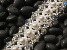 Wedding Jewelry - Custom Made Swarovski Crystal and Pearl Bracelet