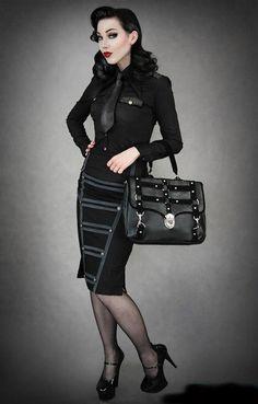 goth corporate attire
