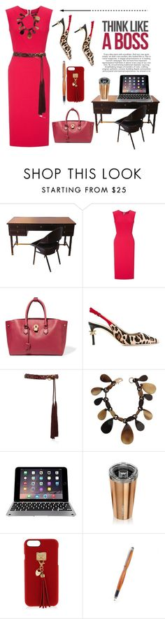 """""""Think Like A Boss"""" by conch-lady ❤ liked on Polyvore featuring Roland Mouret, Mallet & Co, Dsquared2, Tory Burch, Hermès, Corkcicle and Henri Bendel"""