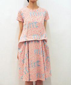 mintdesigns(ミントデザインズ)の【新作コレクション】FRONT TUCK DRESS(ワンピース) ピンク系その他