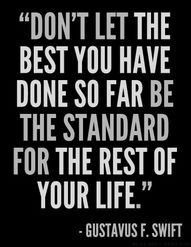 Don't let the best you have done so far be the standard for the rest of your life Need Motivation, Study Motivation, Motivation Quotes, Words Quotes, Wise Words, Favorite Quotes, Best Quotes, Quotes About Everything, Empowering Quotes