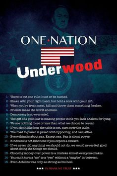 Famous House of Cards quotes van Kevin Spacey aka Frank Underwood. #HouseofCards Inspirational Quotes from House of Cards' Frank Underwood