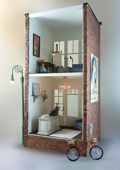 #miniatures dollhouse shop interior two floors