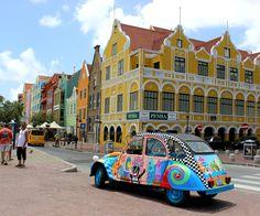 Handelskade, art, Curacao, Willemstad, painted duck, car fun, happy, caribbean art, local made, Dutch Caribbean, pontoonbridge