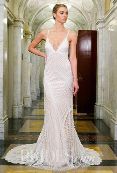 A slinky, embroidered @vkkny wedding dress | Brides.com