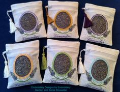 Sachet Bags by EmbroideryStuff on Etsy, $12.00
