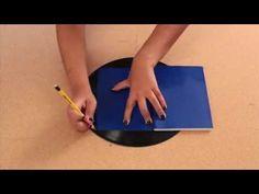 Forra tus cuadernos de forma original!! - Discos de Vinyl - Fácil y sencillo - DIY - YouTube