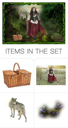 """""""Little Red Riding Hood"""" by irnarenko ❤ liked on Polyvore featuring art"""