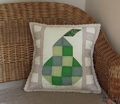 Patchwork Pillow, Terrazzo, Dolce, Pillow Cases, Sewing Projects, Cotton Fabric, Throw Pillows, Homemade, Green