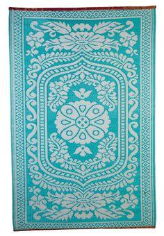 House Doctor Teppich Kunststoff Oriental hippie türkis 120x180cm 40€