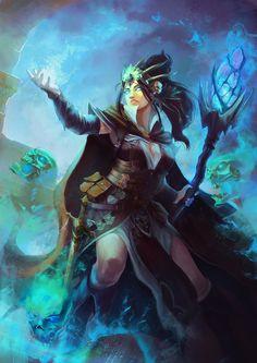 Lucia Aselecia's Curse (Warlock) by janemini on DeviantArt #warlock #wizard