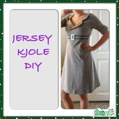 Denne billedguide til at sy en jerseykjole er ikke lavet af mig, men af Josefine, som jeg har mødt i...