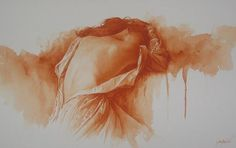 """Sepia <3 """"Nuit de noce"""" Watercolour Paintings by Gilles Grimoin **HERMOOOSA**"""