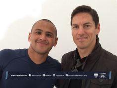 Hoy el exjugador de #Rayados Guillermo Franco visitó las instalaciones de El Barrial y saludó a Humberto Suazo.