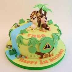 Raa Raa The Noisy Lion Birthday Cake ... Jungle Cake, Jungle Party, Lion Birthday, 2nd Birthday, Birthday Cakes, Birthday Ideas, Lion Cakes, Movie Cakes, Fancy Cakes