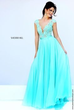 Sleeved A Line Sherri Hill Dress 11269