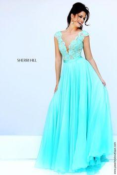 Sleeved A Line Sherri Hill Dress 11269