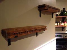 Cigar molds turned into shelves!