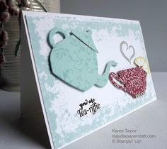 MaudiePapercraft: Stampin' Up! A Nice Cuppa and Cups & Kettles…