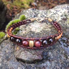 Bohemian Bracelet  Leather Wood Smokey Quartz Red Tigers Eye  Handmade  Local Jewelry! --- Available to purchase on Etsy at wanderlustwrists.etsy.com  #bracelet #bracelets #handmade #handmadebracelet #handmadejewelry #local #etsy #wanderlust #travel #explore #victoria #leather  #travelbracelet #crystalproperties #healing #bohemian #jewelry #wrapbracelet #chanluu #christmasgift #stockingstuffers #etsysuccess #smokeyquartz #redtigerseye #pretty