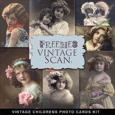 Freebies Vintage Childrens Photo Cards
