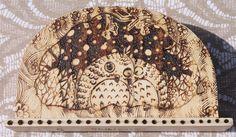 Portatovaglioli legno decorazione gufi notturni