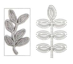 Leaves crochet diagrams video flowers pinterest crochet leaf with diagram ccuart Image collections