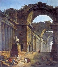 The Fountains - Hubert Robert -- absolutely beautiful Landscaping With Fountains, Building Painting, Virtual Art, Historical Art, Matte Painting, Victorian Art, Architecture Drawings, Ancient Ruins, Art Institute Of Chicago
