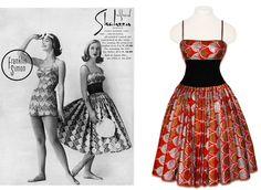 Shaheen ocean print metallic vintage 1950's dress.              TBT: The Secret History of Hawaiian Prints