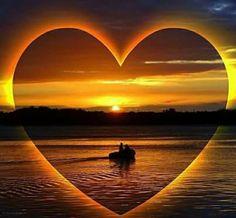 Corazón en amanecer.