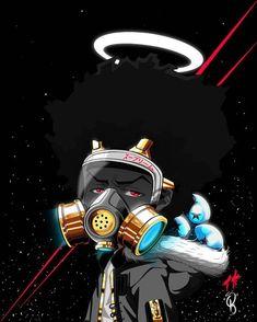 Don't get lost in Heaven. #art #craft #anime #manga #comics #cartoons #boondocks #black #riley # - ceethekreator