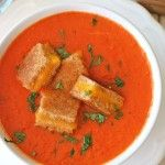 """Permalink to: Creamy Tomato Soup with Grilled Cheese """"Croutons"""""""