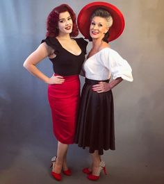 Behind the scenes on a Deadly is the Female photo shoot with models Scarlett Luxe and Nikki Redcliffe both wearing Vixen by Micheline Pitt separates. Vintage Inspired Fashion, 1950s Fashion, Vintage Fashion, Deadly Females, Trashy Diva, Pinup Couture, Vintage Branding, Wiggle Dress, Photos Of Women