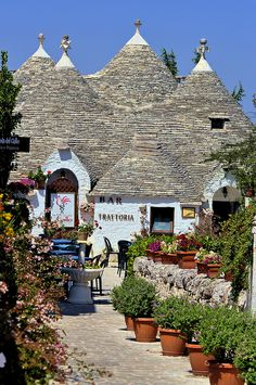 Trulleria Italy. Looks like a kick-back kind of town. Would love to have a glass of wine here and relax for an afternoon.