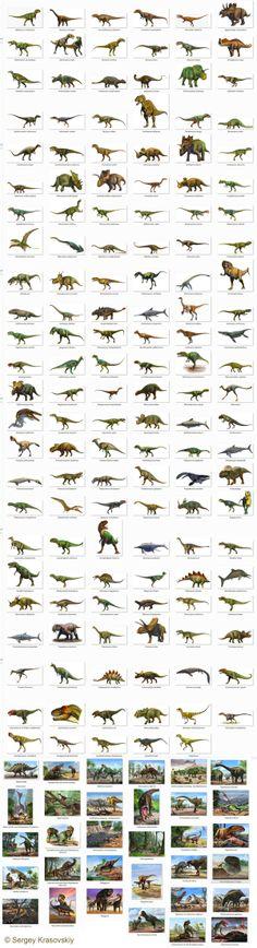 Dinosaurs personage by Сергей Красовский, via Behance