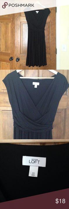 LOFT XS little black dress LOFT XS little black dress.  EUC deep V neck little black dress.  Washable material. LOFT Dresses