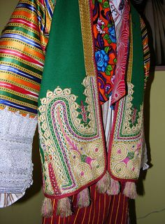 Detail of a traditional festive costume from Albania.  Clothing style: first half of 20th century.