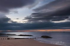 Dramatic evening skies above Aberdeen