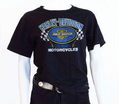 Vintage Tshirt / Harley Davidson Biker Rocker Graphic Print Tee Shirt Size Small #HarleyDavidson #GraphicTee