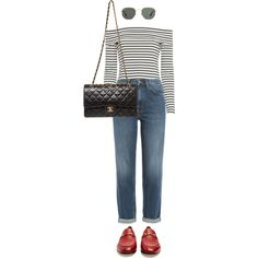 Untitled #4457 by ericacavaco12 on Polyvore featuring polyvore, mode, style, 10 Crosby Derek Lam, M.i.h Jeans, Gucci, Chanel, Ray-Ban, fashion and clothing