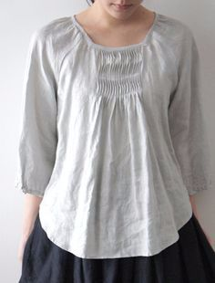 e1a18b36343eba6700ca796c01045517 (236x310, 36Kb) Mode Style, Style Me, Girl Fashion, Fashion Outfits, Womens Fashion, Linen Blouse, Linen Dresses, Sewing Clothes, Dressmaking