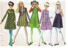 1960s fashion illustrations.