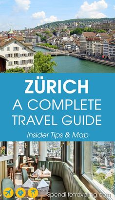 A Complete Travel Guide to Zürich – Insider Tips & Map From the sights to see to where to eat and drink. This complete travel guide to Zürich tells you all you need to know to plan your perfect trip to Switzerland. Tips from an Insider & a travel map. Europe Destinations, Europe Travel Tips, European Travel, Travel Guides, Travel Sights, Budget Travel, Switzerland Places To Visit, Switzerland Vacation, Switzerland Tourism