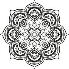Wall Decal Mandala Ornament Flower Yoga Indian Decor by dewaro