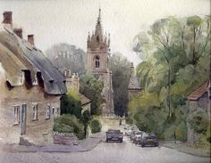 Andy Shore__watercolor paintings_city-art_акварель_город